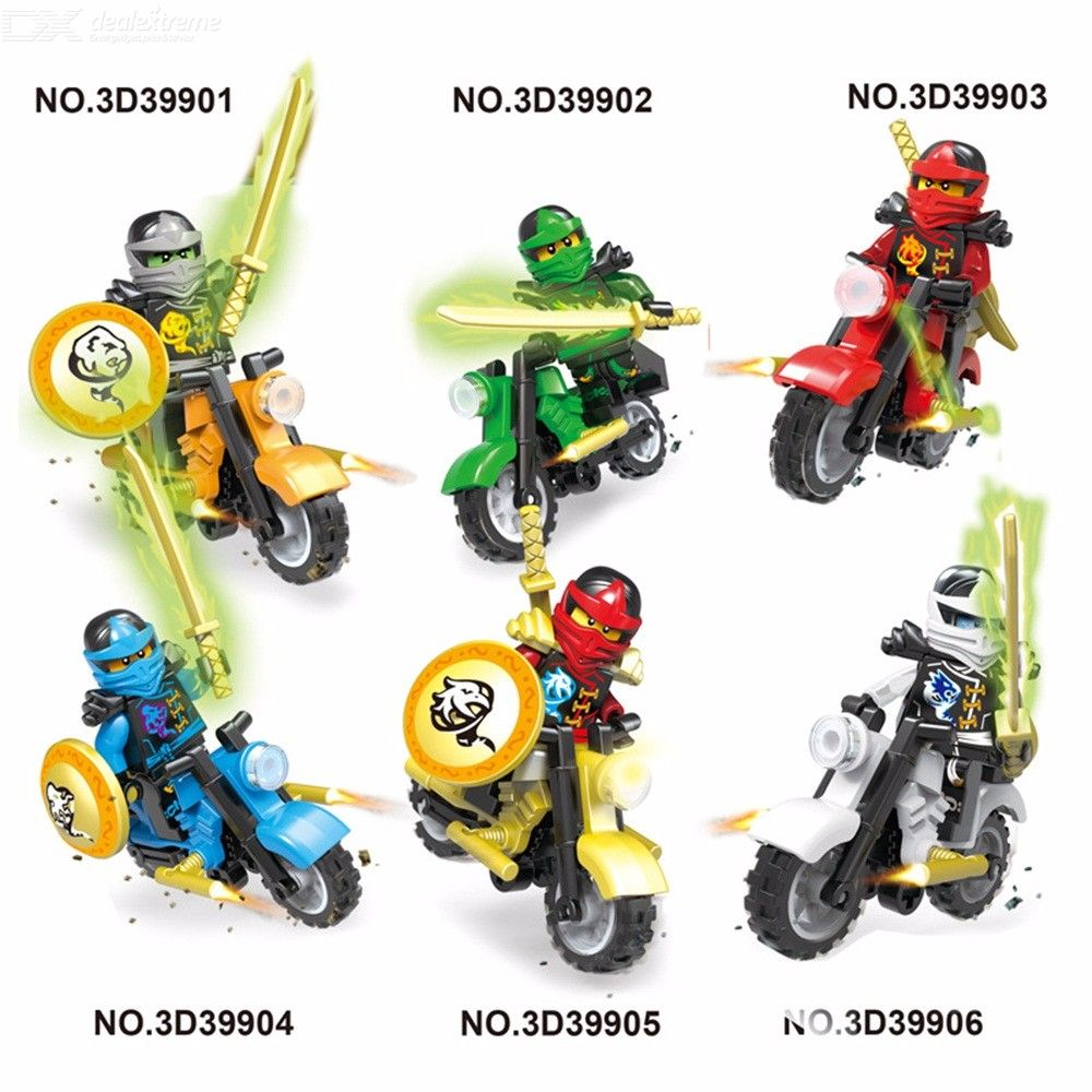 6Pcs Super Heroes Marvel Avengers Knights Motorcycle Mighty Micros Building Block Model Bricks Toy For Children