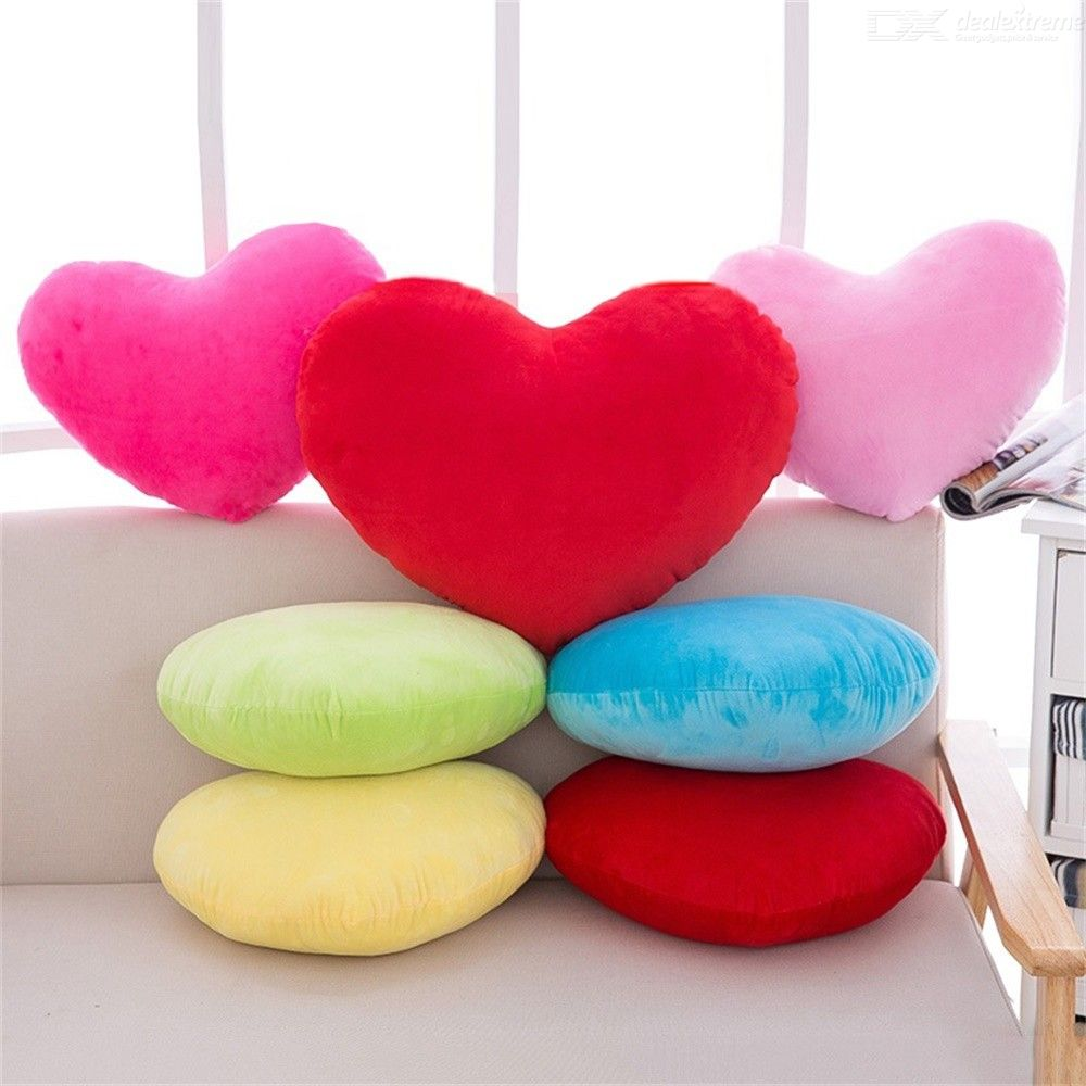 Soft Plush Stuffed Love Heart Shape Pillow Toys For Children Doll Wedding Party Decor Toys Baby Cute Gift
