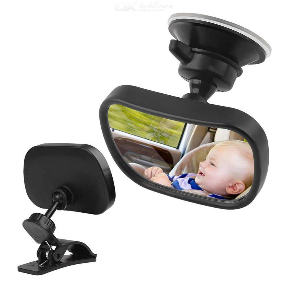 Baby Backseat Mirror Rotatable Acrylic Mirror For Newborns And Kids 360 Degree Rotation Range