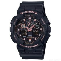 Casio-G-Shock-GA-100GBX-1A4-Standard-Series-Wrist-Watch-Black-2b-Rose-Gold