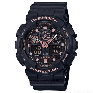 Casio G-Shock GA-100GBX-1A4 Standard Series Wrist Watch - Black + Rose Gold