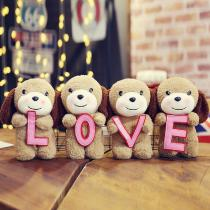Love-Puppy-Plush-Doll-Stuffed-PP-Cotton-Animal-Toys-Birthday-Gifts-For-Children-(4PCS)