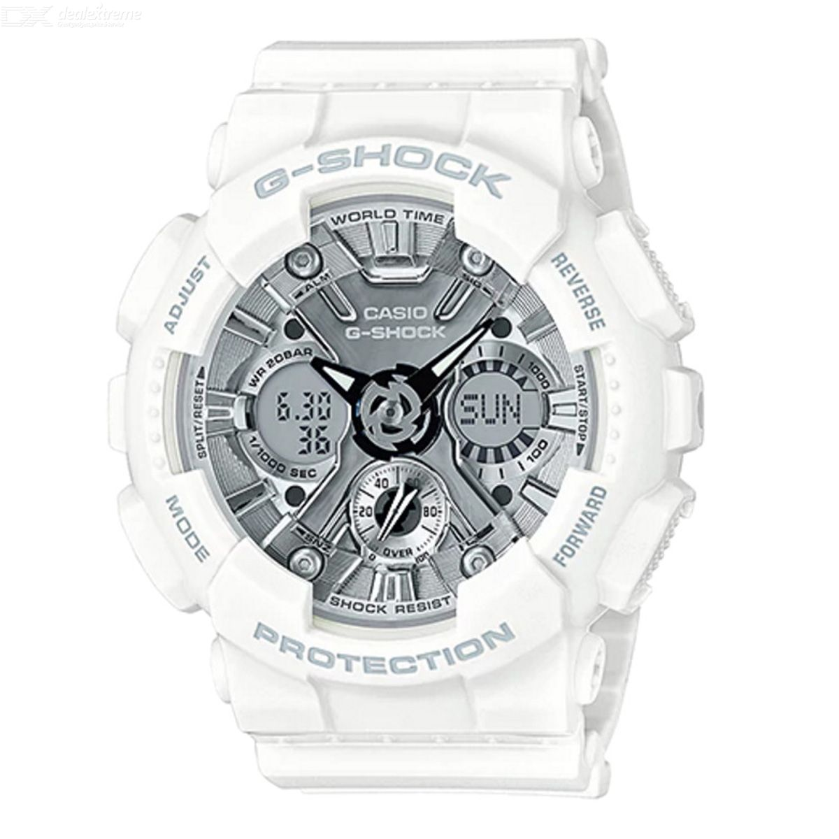 Casio GMA-S120MF-7A1 G-Shock S Series Analog Digital Watch - White + Silver
