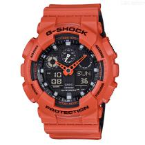 Casio-G-Shock-GA-100L-4A-Analog-Digital-Watch-Orange