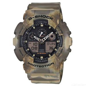 Casio G-Shock GA-100MM-5A Camouflage Series Analog Digital Watch - Brown