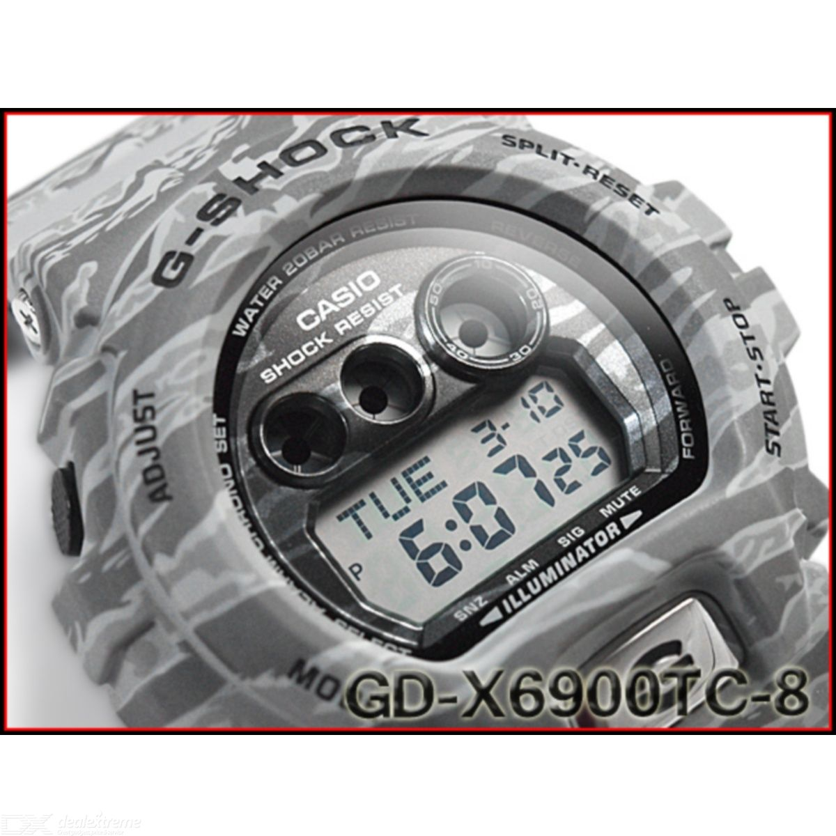 Casio G-Shock GD-X6900TC-8CR Camouflage series Mens Watch - Grey