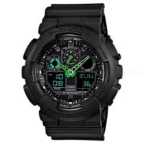 Casio-G-Shock-GA-100C-1A3-Mens-Watch-Black-and-Green