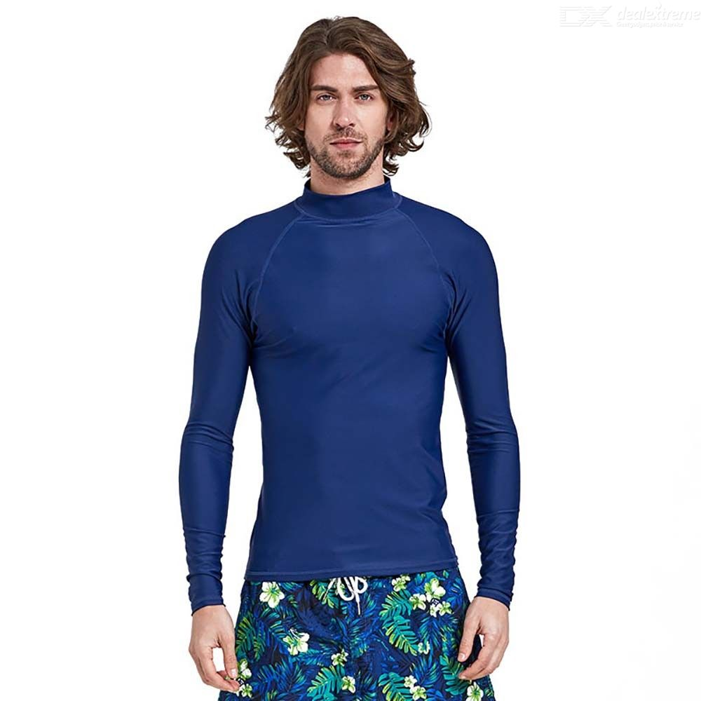 Diving Rash Guard Quick Dry Swimwear Long Sleeve Surfing Shirt UV Protection Top For Men