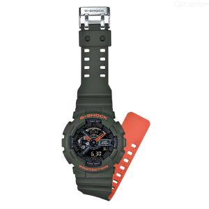 Casio G-Shock GA-110LN-3A Analog Digital Watch - Green + Orange
