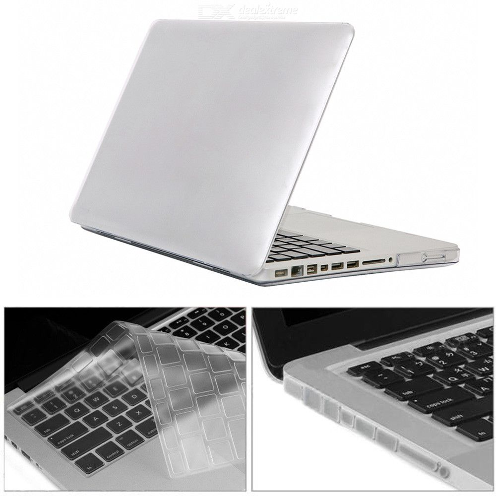 A1278 3 in 1 Crystal Case Keyboard Cover + Anti-dust Plugs for MacBook Pro 13.3 inch with CD-ROM
