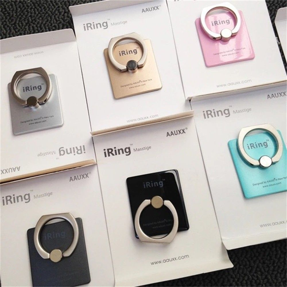 1PC Square Cell Phone Ring Mount Hook Phone Ring Holder With Kickstand - Random Color
