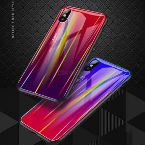 Gradient Tempered Glass Phone Case Color Changing For IPhone Xs Max