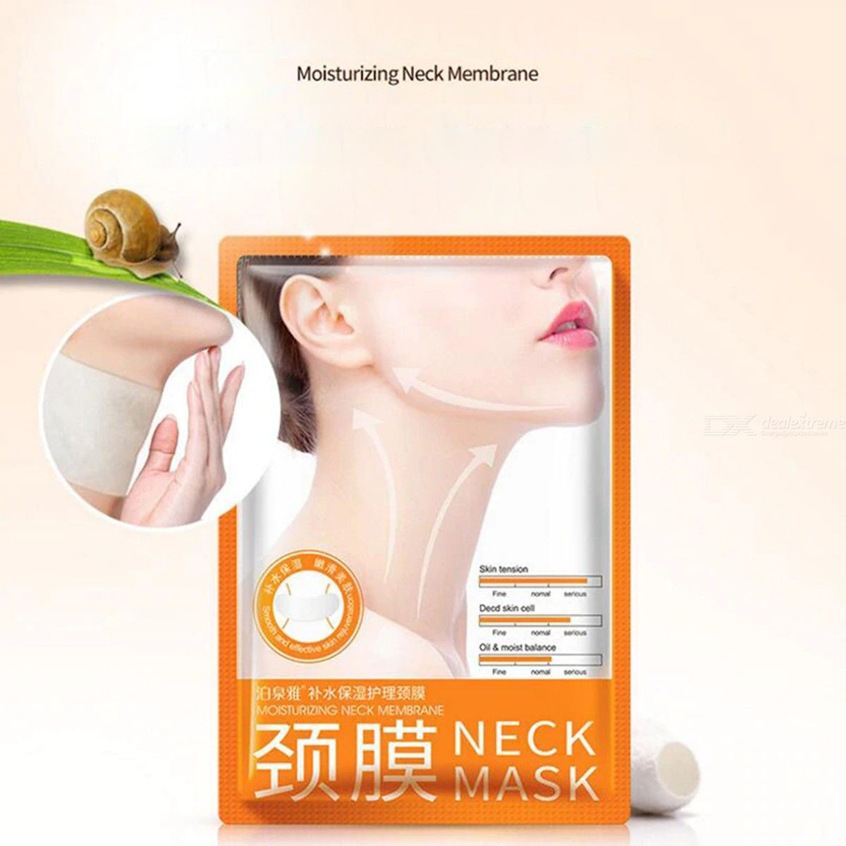Anti-aging Neck Mask With Hyaluronic Acid And Collagen Reduces Wrinkles