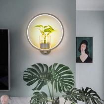 Modern-Wall-Sconce-Creative-Iron-Light-With-Flower-Pot
