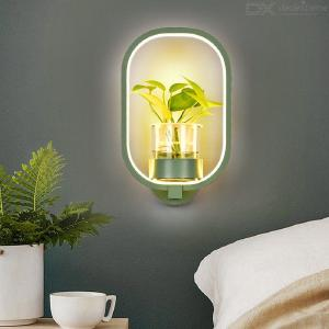 Modern Iron Wall Sconce Creative LED Wall Mounted Lamp With Flower Pot