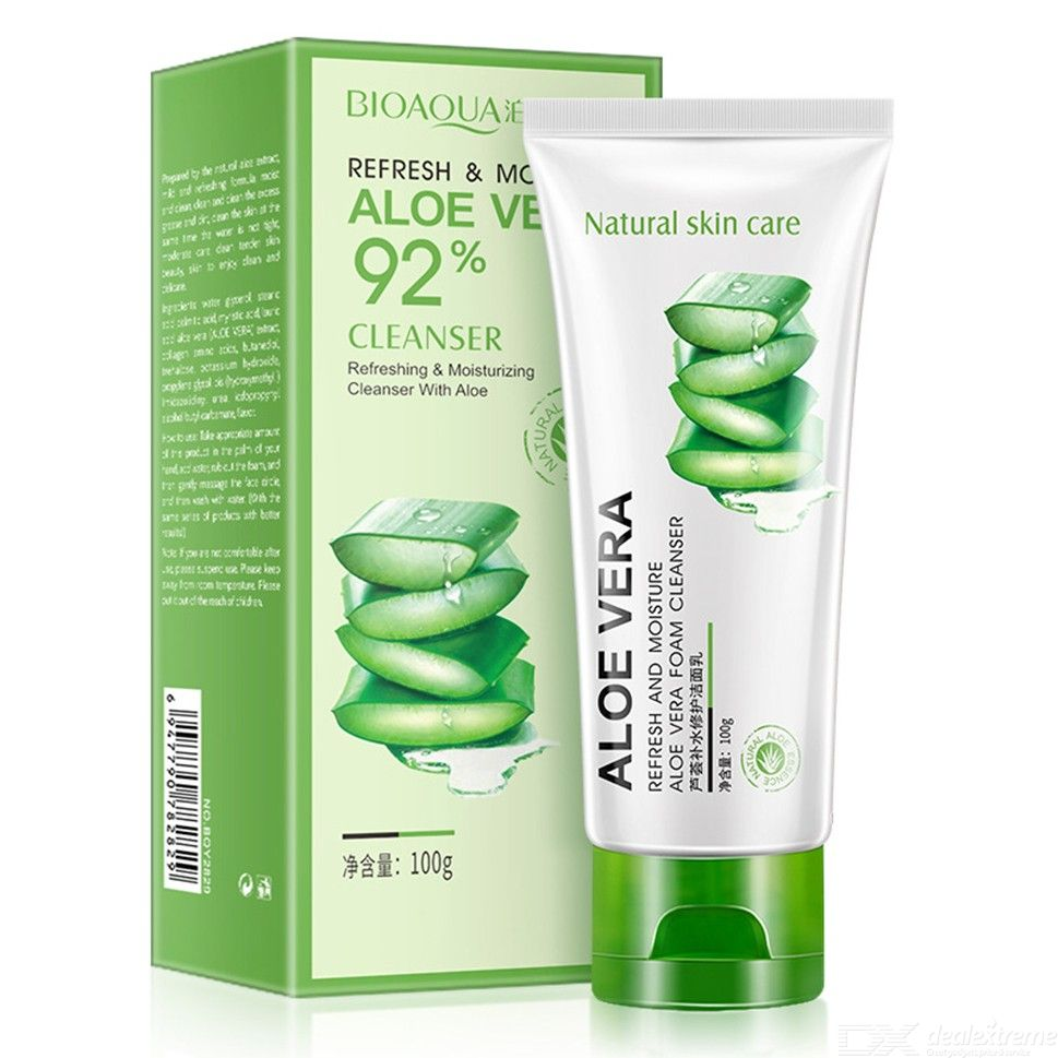 100ml Aloe Facial Cleanser Deep Cleansing And Moisturizing Face Wash