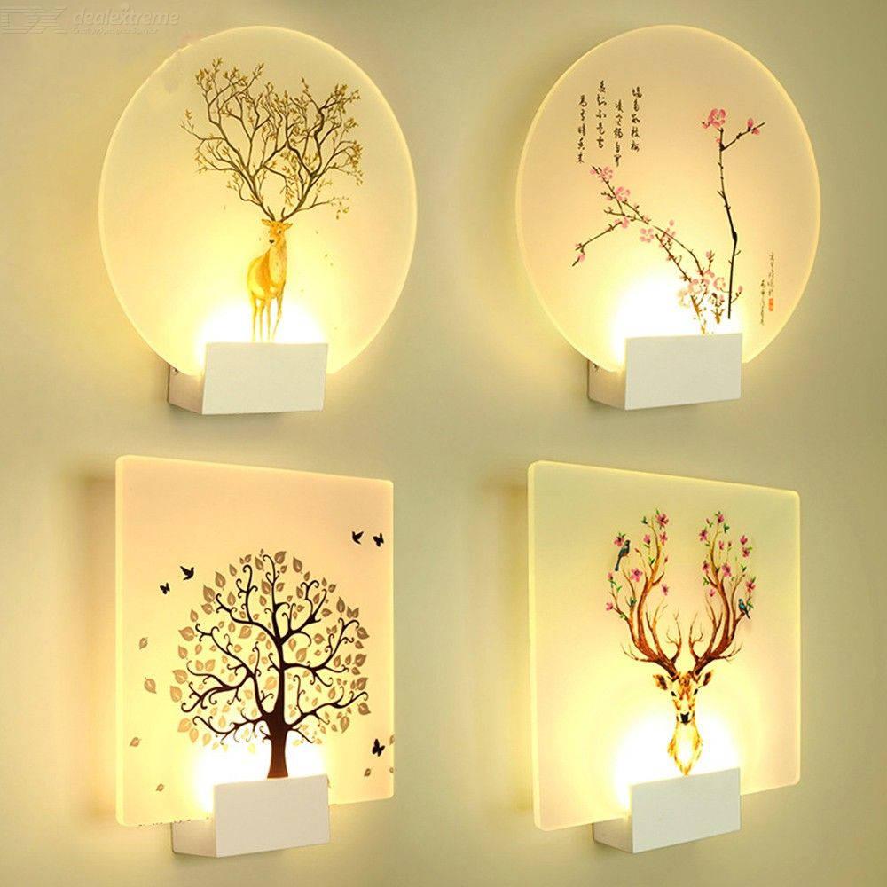 Modern LED Wall Light 6W Wall Sconce With Painted Lampshade