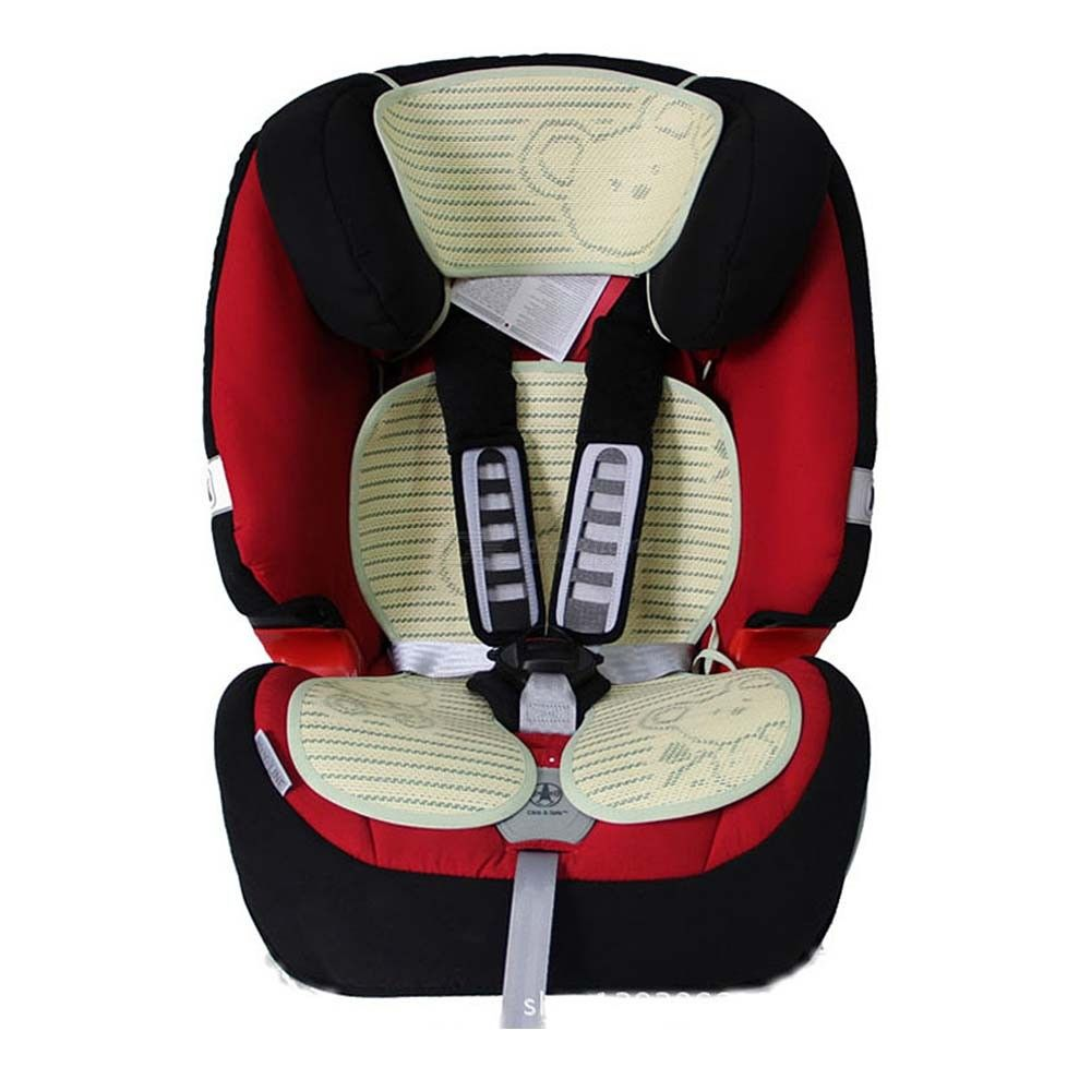 Kids Linen Stroller Seat Pad Breathable Summer Seat Mat For Car Seat