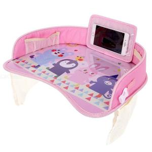 Kids Car Seat Travel Tray Waterproof Cartoon Animal Oxford Play And Learn Table