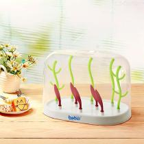 Baby-Bottle-Drying-Rack-Dryer-Holder-For-Feeding-Accessory-With-Dust-proof-Lid