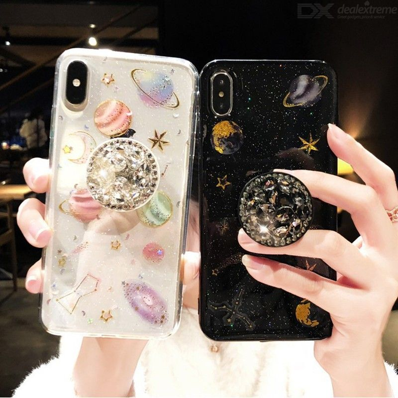 Glitter Phone Case Cute Rhinestone Phone Cover With Kickstand For IPHONE