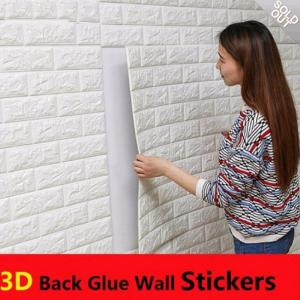 3D Brick Wall Sticker Self-adhesive PE Foam Wall Paper 70 X 38cm