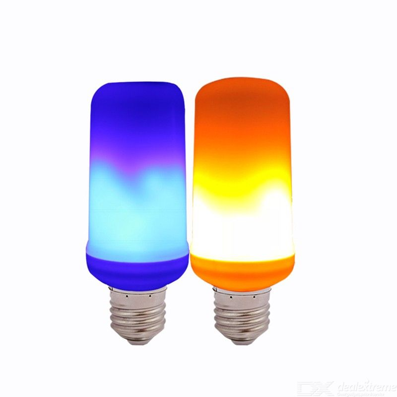 LED Flame Effect Light Decorative Flame-like Decorative Lamp With 4 Lighting Modes