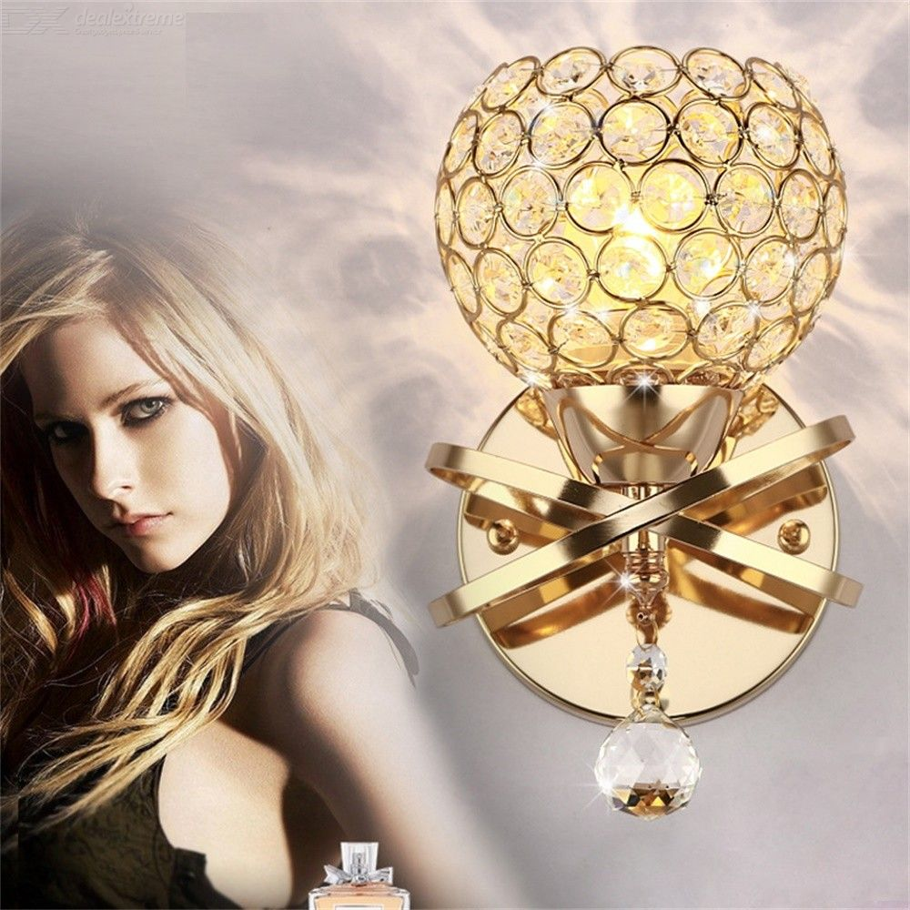 Luxury LED Crystal Wall Sconce Modern Decorative Wall-mounted Lamp For Bathroom And Vanity Area