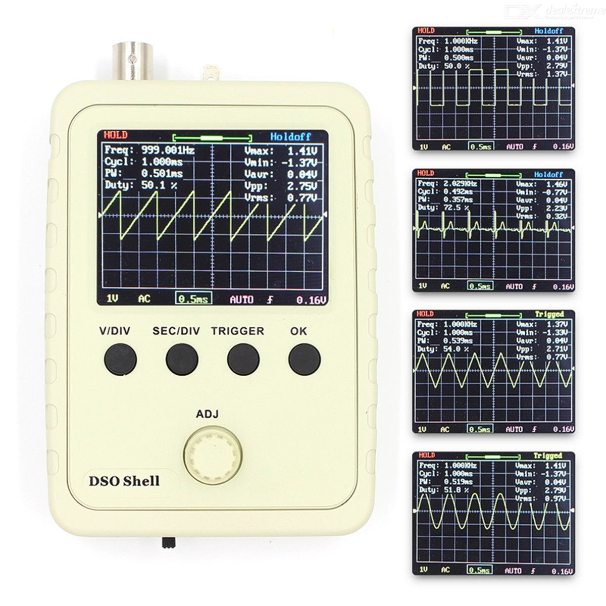 Digital DSO150 15001K DSO-SHELL Electronic Oscilloscope Set With Housing DIY Kit