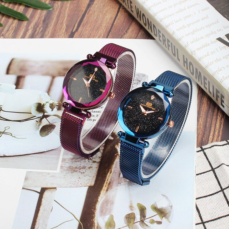 Fashion Quartz Wristwatches Casual Simple Alloy Watch With Stainless Steel Strap For Women