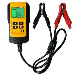 12V Car Battery Tester LCD Digital Vehicle Battery Analyzer Voltage Ohm