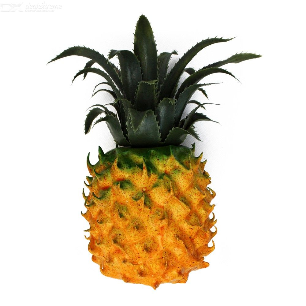 Artificial Foam Pineapple Lifelike Decorative Fruits For Photographing