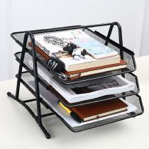Office-A4-Paper-Organizer-Document-File-Letter-Brochure-Filling-Tray-Rack-Shelf-Carrier-Metal-Wire-Mesh-Storage-Holder