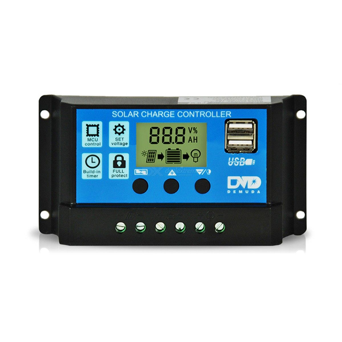 20A 12V/24V Auto Solar Charge Controller PWM With LCD Dual USB 5V Output Solar Cell Panel Regulator