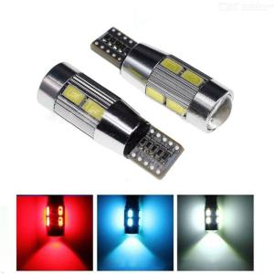 2PCS 5630 Decode Car Turn Lights T10led Lamp 10SMD Display Lamp 5630-10 Light Solution