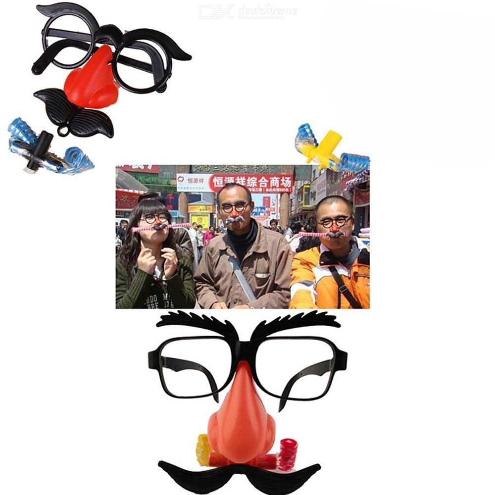 Novelty Disguise Glasses With Nose Eyebrow Classic Party Props