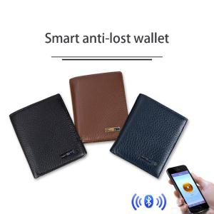 Smart Wallet Men Genuine Leather Anti Lost Intelligent Bluetooth Safe Security Smart Tracking Anti-lost Purse