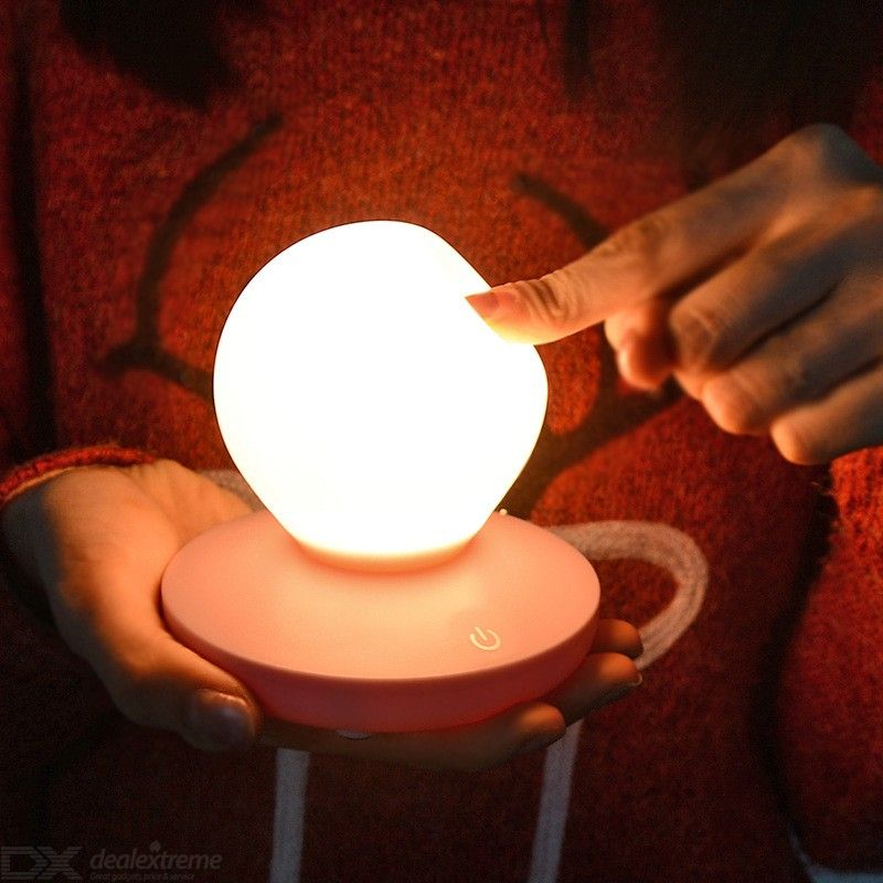 Romantic Heart LED Nightlight USB Chargeable Bedside Lamp Touch Control 3 Brightness Levels
