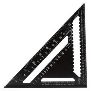 12 Inch High-Precision Triangle Ruler For Woodworking Aluminum Alloy Square Layout Gauge Protractor Measuring Tool