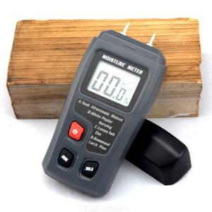 EMT01 Two Pins Digital Wood Moisture Meter 0-99.9 Wood Humidity Tester Timber Damp Detector With Large LCD Display
