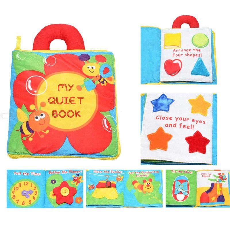 Multi Function Stereo Flowers 3D Three-dimensional Puzzles Cloth Tactility Book Baby Recognize Shape Kids Gift