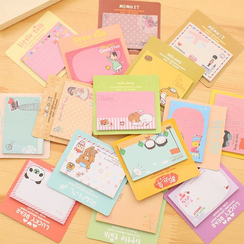 Cute Self-Adhesive Memo Pad Cartoon Paper Post Sticky Notes Bookmark Stationery Gift School Supplies