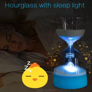 Creative Hourglass Nightlight Rechargeable Color Changing Bedside Lamp
