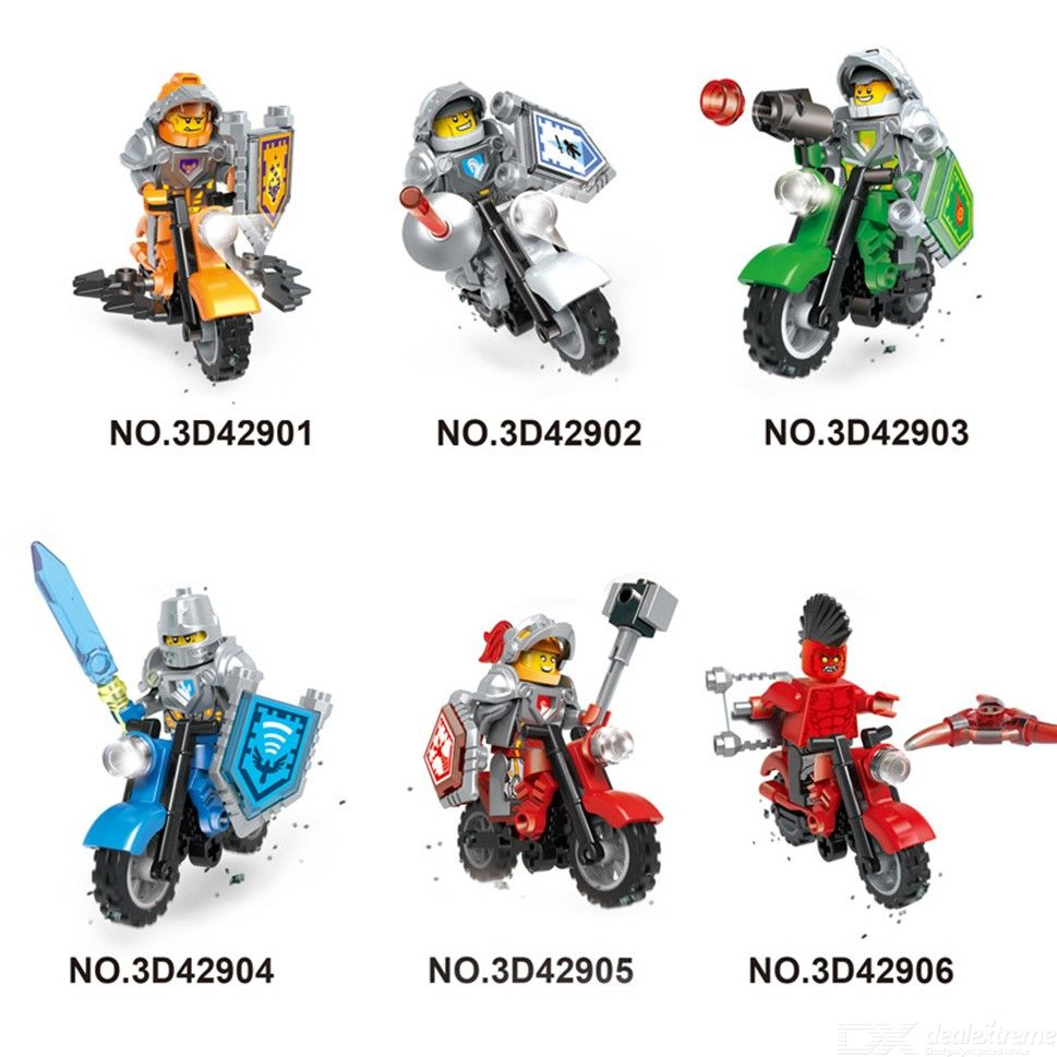 6pcs Super Heroes Motorcycle Mighty Micros Building Block Model Bricks Toy For Childre