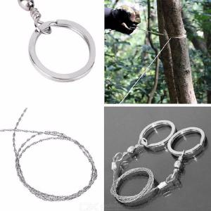 Field Survival Stainless Wire Hand Chain Saw Cutter Outdoor Emergency Fretsaw Camping Hunting Wire Saw Survival Tool