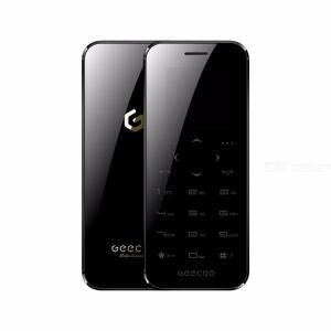 GEECOO MINI 2 Thinnest Touch Screen Feature Phone 400mAh Double Sided Mirror Cellphone