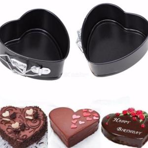 Heart Shape Non-stick Springform Chocolate Cake Bake Mold with Removable Bottom Bakeware Baking Tools