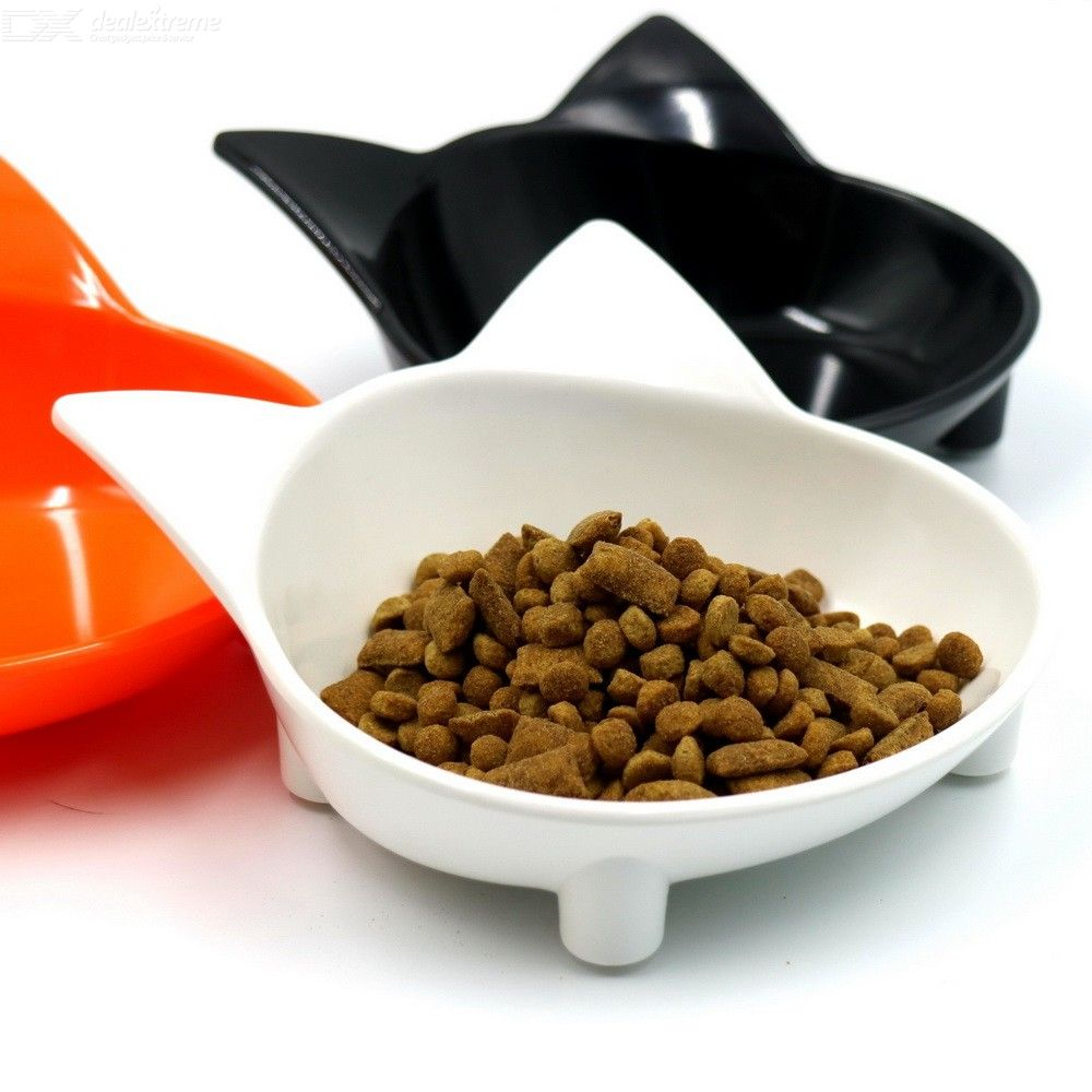 Cute Cat Bowl Cat Shape Non Slip Pet Food Container 14.5cm