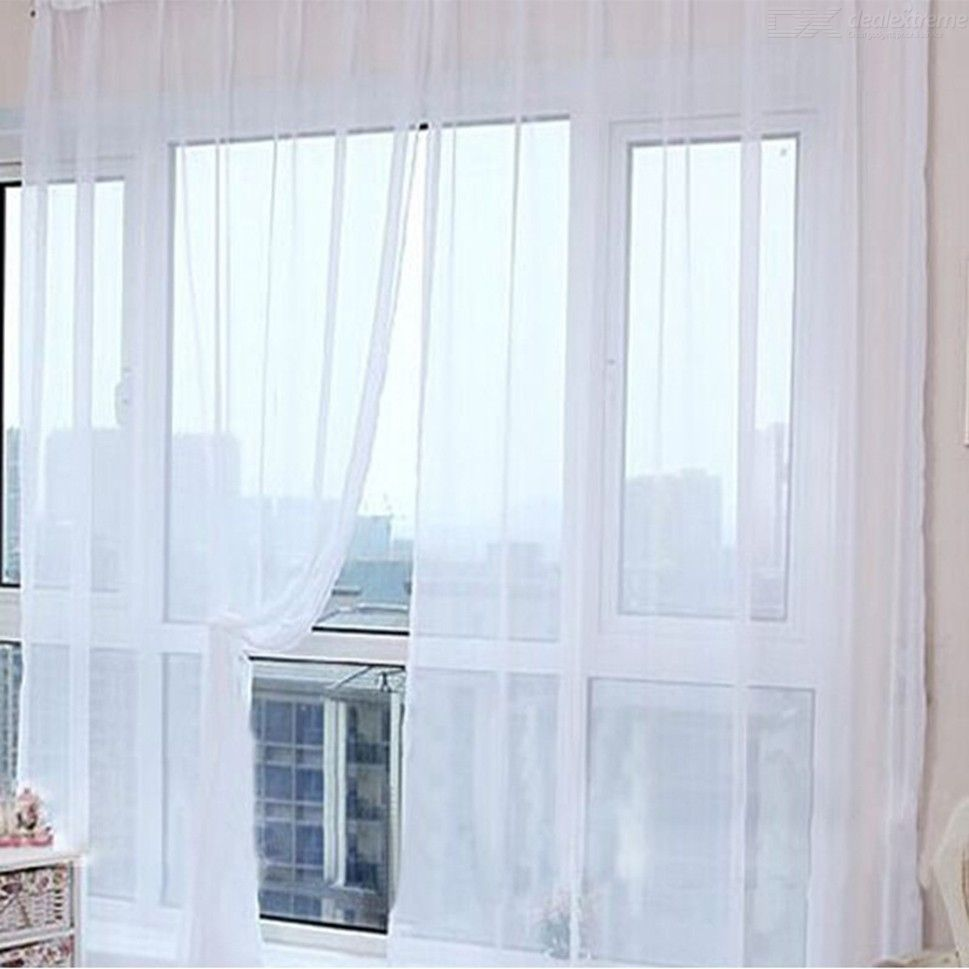 Solid Mesh Curtain Decorative Mesh Net Curtain For Home Hotel 1 Panel