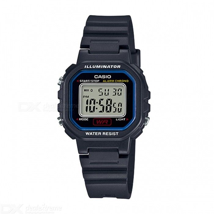 Casio LA-20WH-1C Chronograph Alarm LCD Digital Watch - Black and Blue (Without Box)